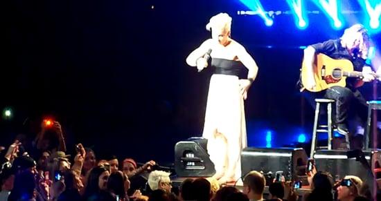 Pink Comforts Crying Girl at Concert