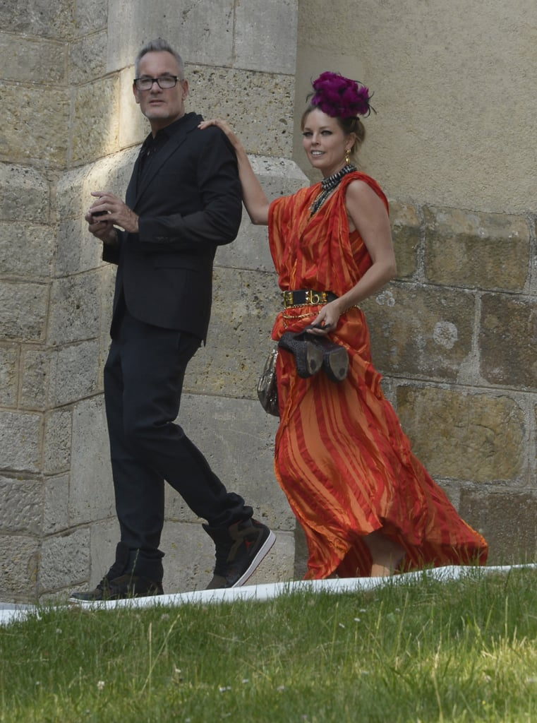 Guest were spotted arriving at the wedding.