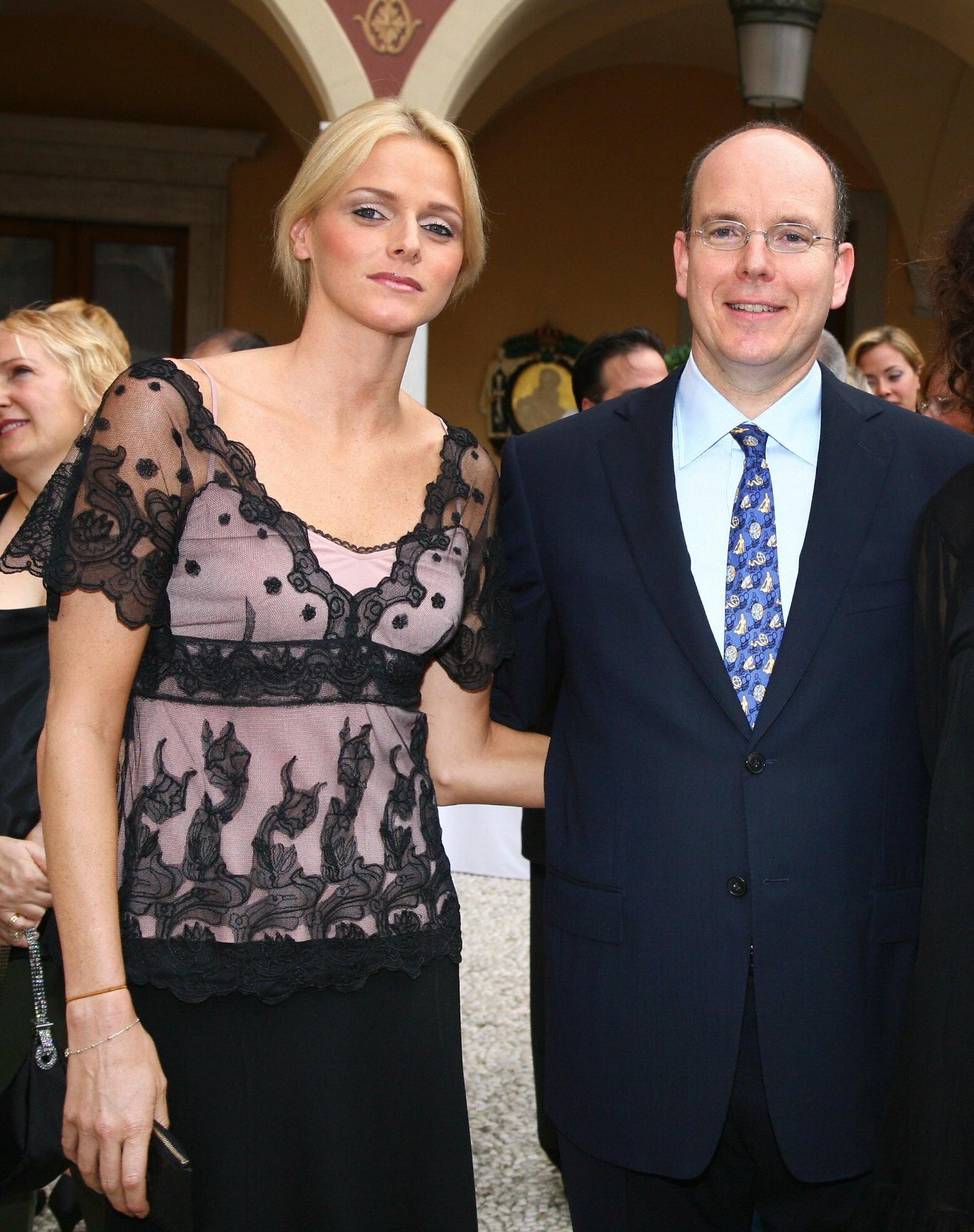 Charlene Wittstock and then-boyfriend Prince Albert struck a pose in 2007.