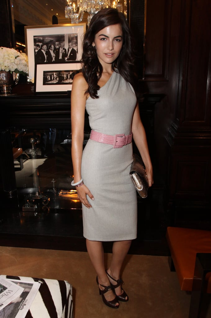 Camilla Belle looked sultry in a gray dress at the Ralph Lauren party in 2009.
