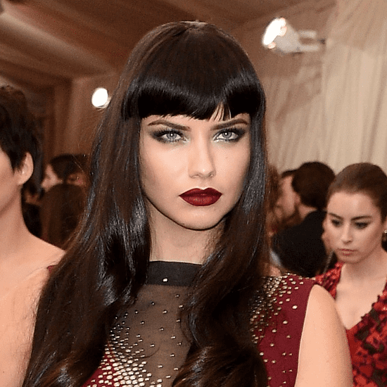 Adriana Lima Goes Goth at the 2015 Met Gala