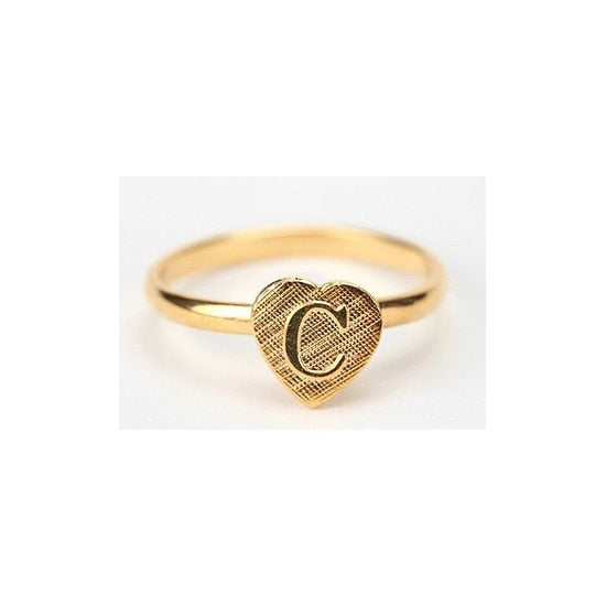 Initial ring, approx $12, Diament Jewelry at Urban Outfitters