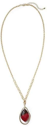 Sabine Stone Pendant Long Necklace