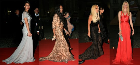 Models & Actresses Honor Gianni Versace
