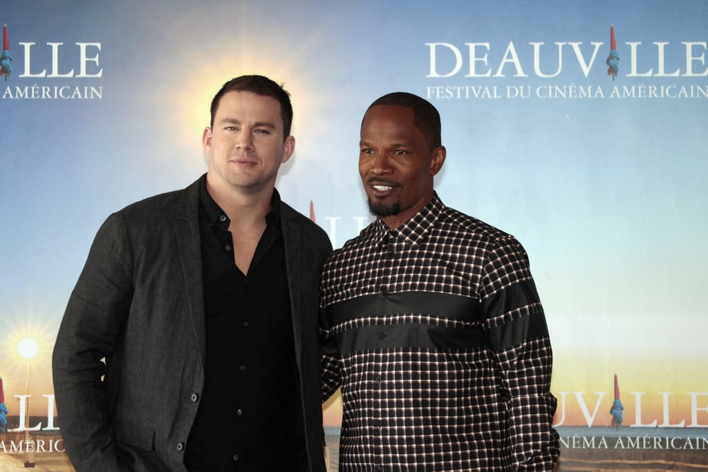 Channing Tatum and Jamie Foxx posed together at the White House Down photocall as part of the Deauville American Film Festival in France.