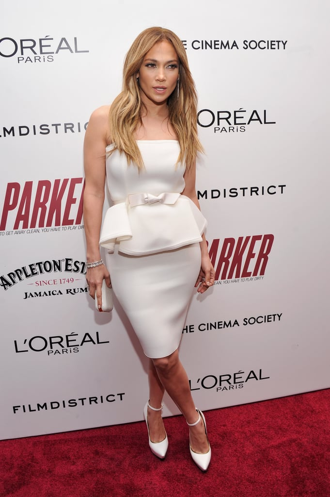 Jennifer Lopez wore Lanvin to a special screening of Parker in NYC.