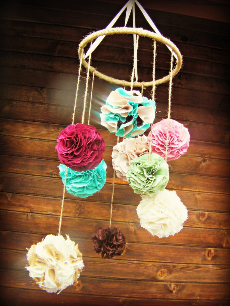Fabric Chandelier Baby Crib Mobile
