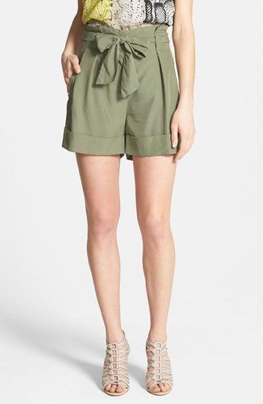 Vince Camuto Paper-Bag Waist Shorts