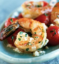 Fast & Easy Dinner: Shrimp With Cherry Tomatoes and Feta