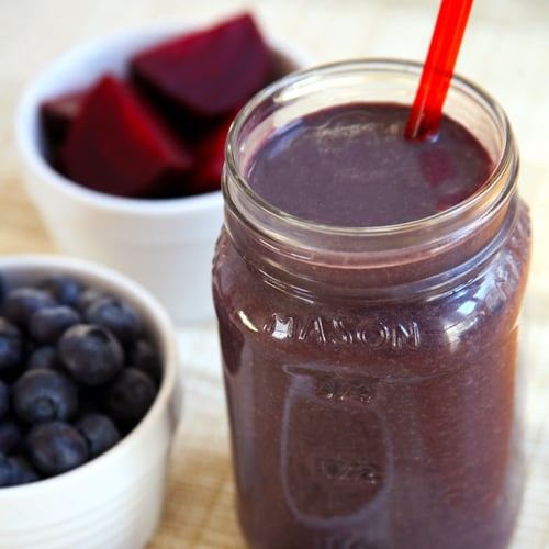 Beet Blueberry Chocolate Protein Smoothie