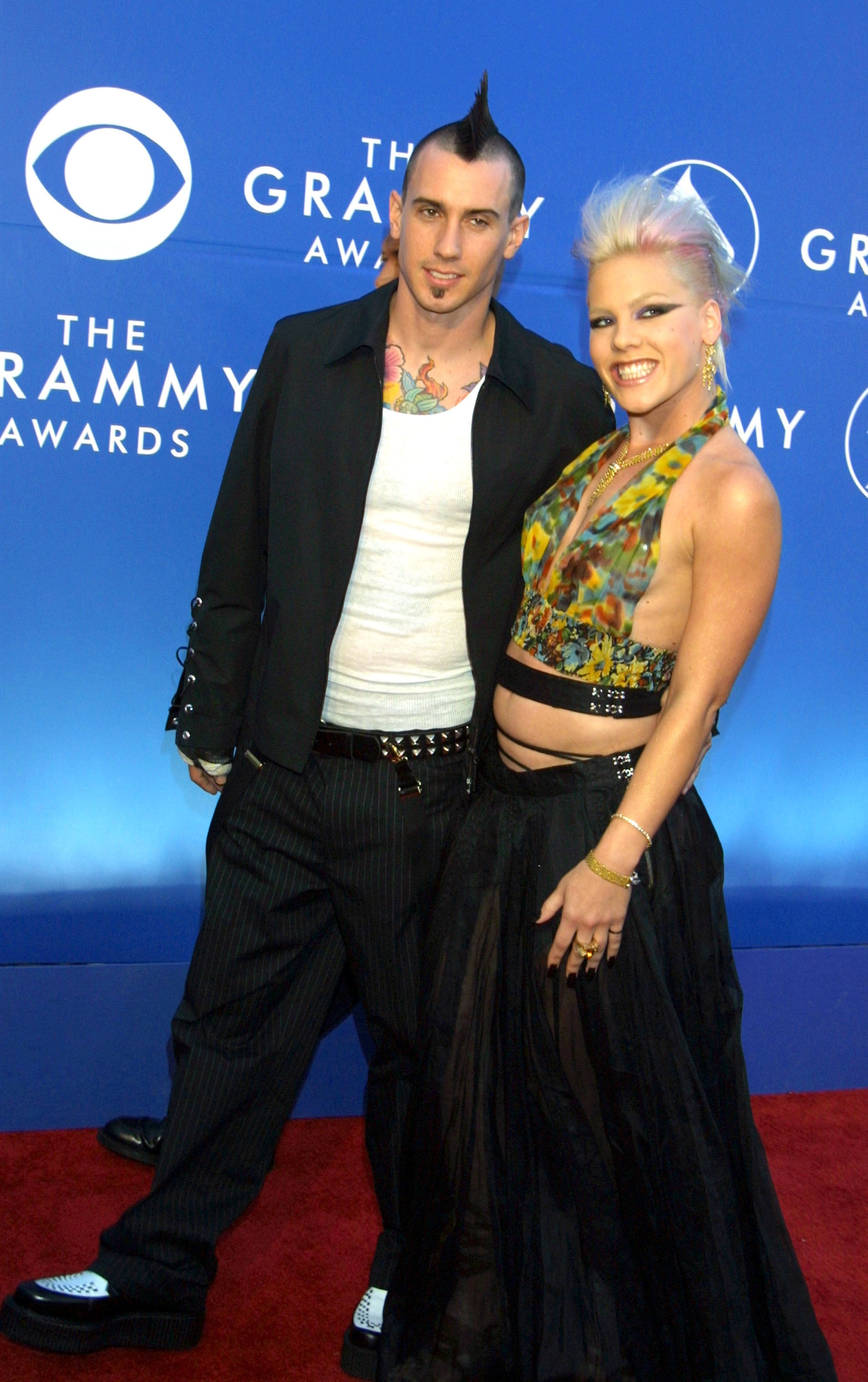 Pink and carey hart 2002 a look back at love at the grammys