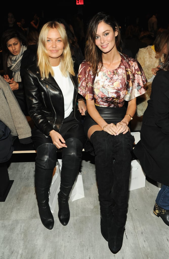 Lara Bingle and Nicole Trunfio sat side-by-side at the Zimmermann show on Friday.