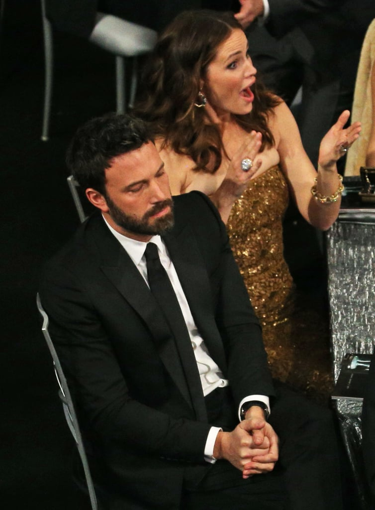 Jennifer Garner got excited in the audience when Ben Affleck's name was called for Argo during the 2013 SAG Awards.