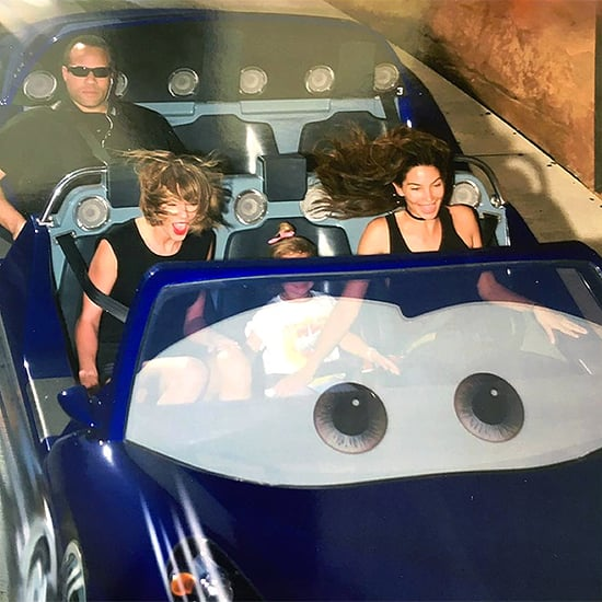 Taylor Swift and Lily Aldridge Hit the Rides at Disneyland - but This Straight-Faced Guy Is the Real Attraction