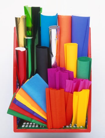 Make paper table runners.