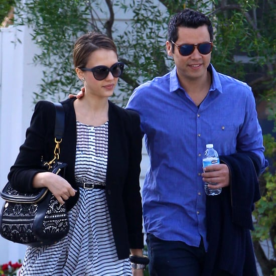 Pictures of Jessica Alba and Cash Warren Searching For a School For Honor in LA