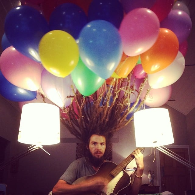 """""""My friend attached balloons to his dreads and then cut them off yesterday"""" Source: Reddit user hdubs"""