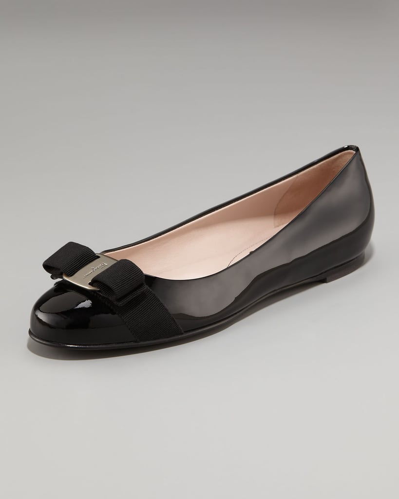 I actually used to not like these so much, but after a little growing up (on my part) and countless Alexa Chung-wore-those-too sightings, I'm obsessed with these Salvatore Ferragamo Varina patent ballerina flats ($425). It's a classic, no-fail flat silhouette with a ladylike twist — I'm considering this a life investment. — Marisa Tom, associate editor