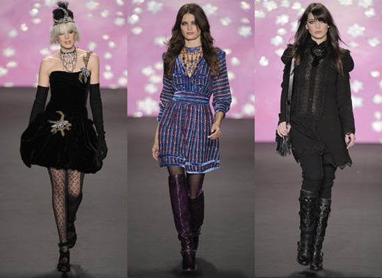 Agyness Deyn and Daisy Lowe on Catwalk For Anna Sui