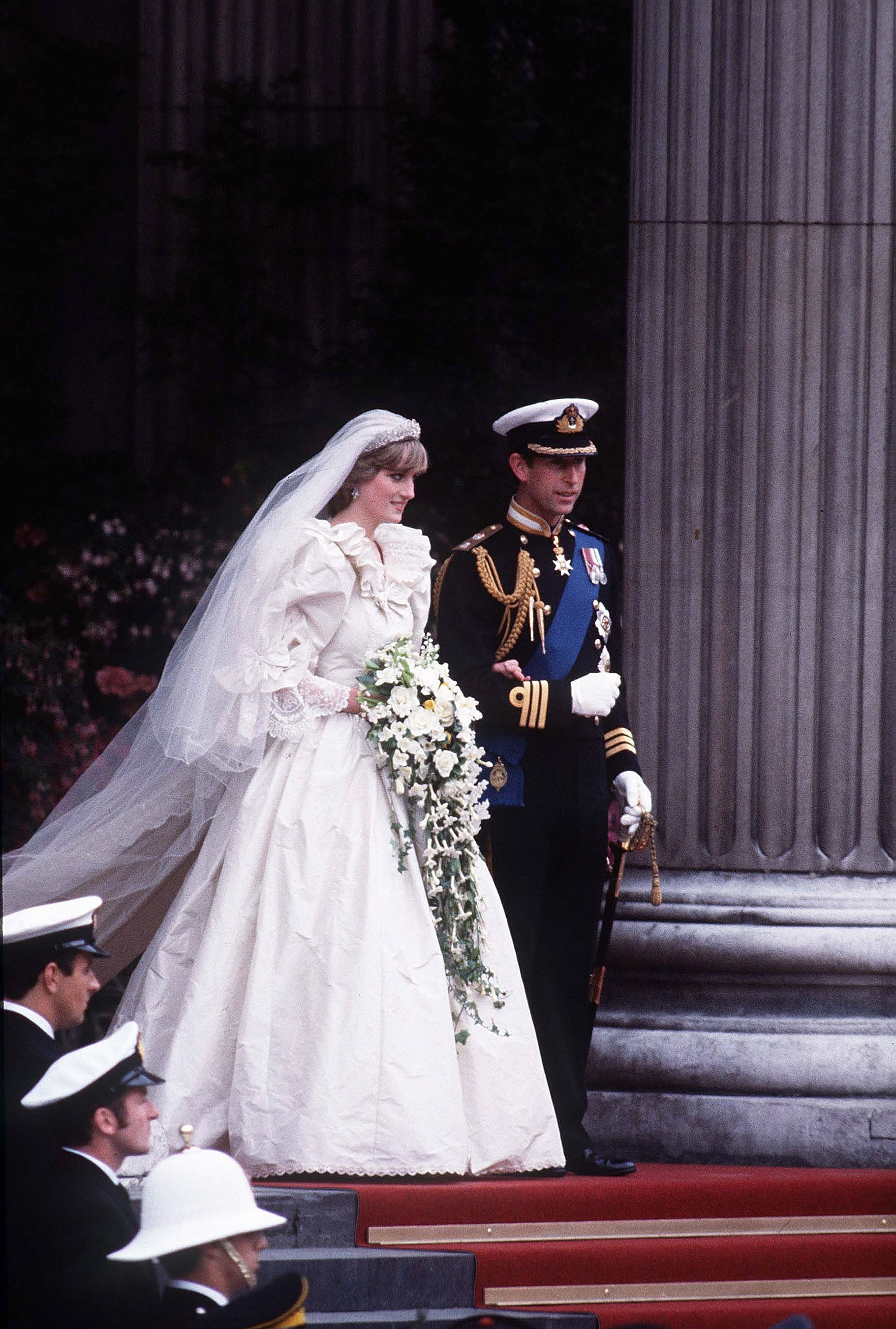 In July 1981, Princess Diana and Prince Charles wed at St. Paul's Cathedral in London.