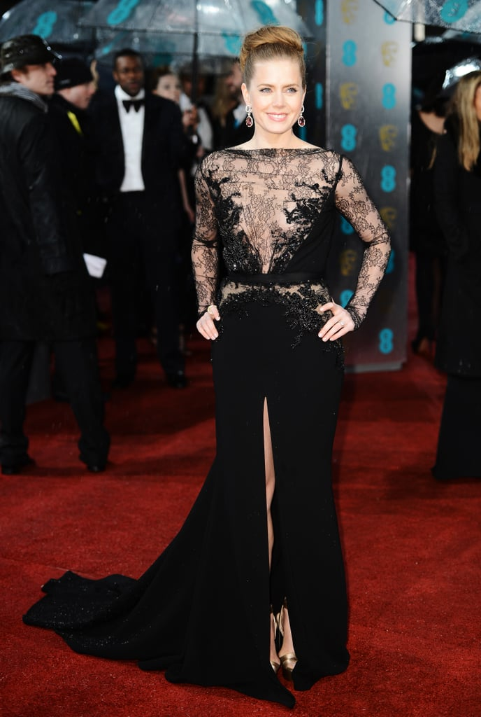 Amy Adams showed skin in a lacy Elie Saab gown.