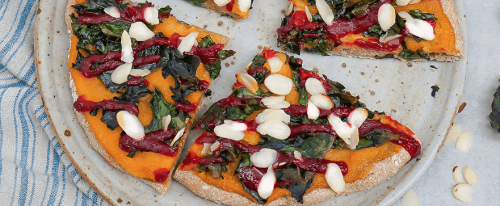 This Butternut Squash, Kale, and Cranberry Pizza Mixes Clean Eating With Junk Food