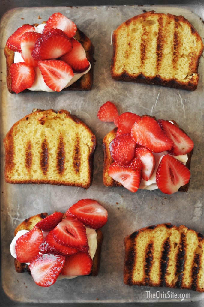 Grilled Poundcake Strawberry Shortcake