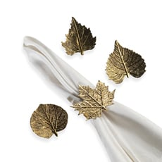 Burnish Leaf Napkin Rings ($15 For 4)