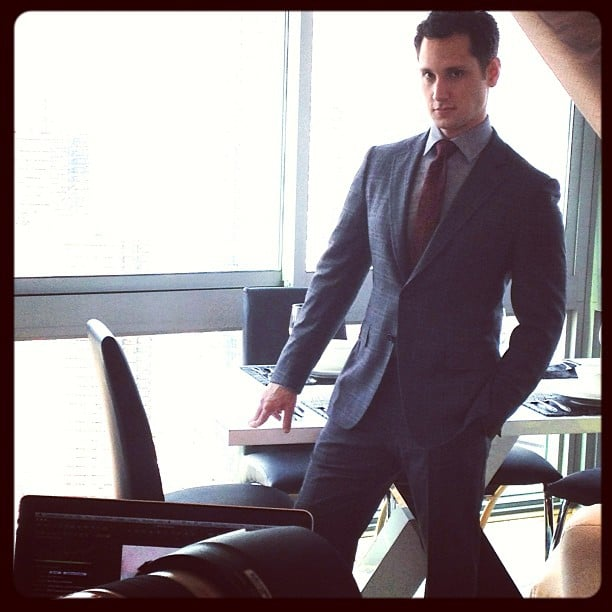 And notice that he looks pret-gy good in a suit.