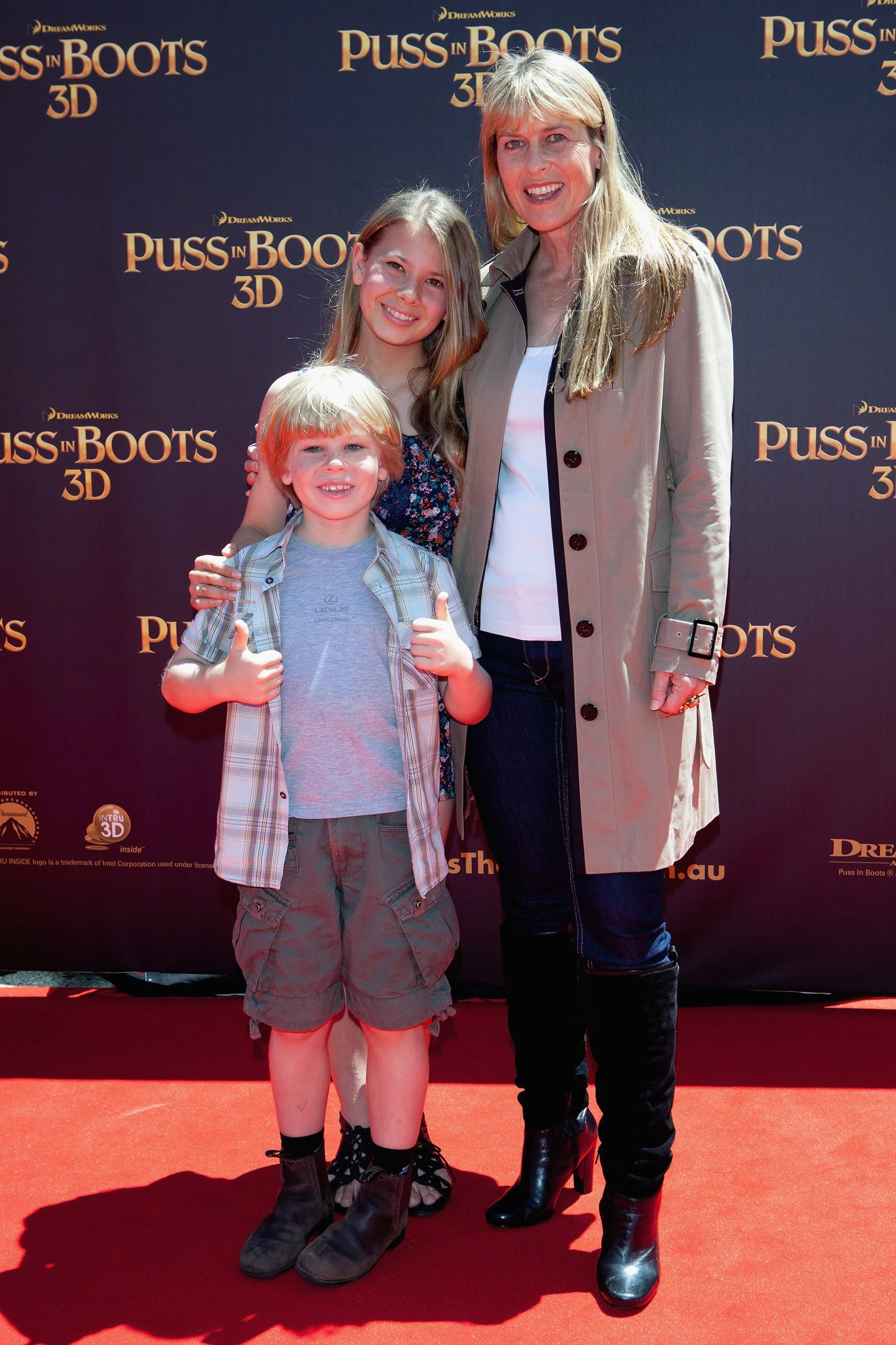 Robert, Bindi and Terri Irwin