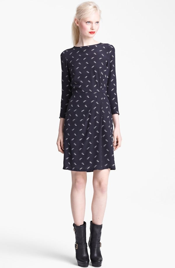Start off wearing this Band of Outsiders dress ($685) with bare legs, and segue to tights once the weather gets wintry.