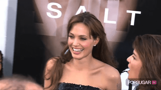 Video of Angelina Jolie and Brad Pitt at the Salt Premiere in LA
