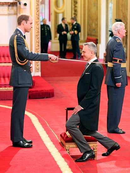 Daniel Day-Lewis Knighted by Prince William at Buckingham Palace