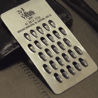 Cheese-Grater Business Card