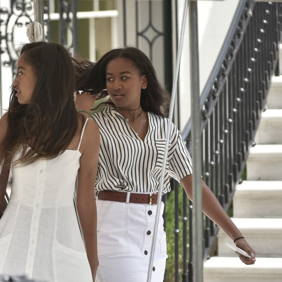 Sasha Obama Wearing a Choker