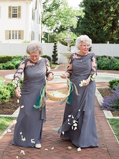 Bride and Groom Invite Their Grandmas to Be Flower Girls - See the Sweet Photos!