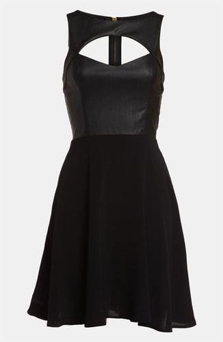 ASTR Faux Leather Cutout Dress