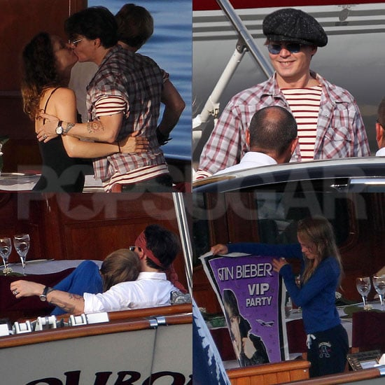 Johnny Depp Sets Sail on a Romantic Cruise With Vanessa and Gifts Lily-Rose With a Justin Bieber Surprise!