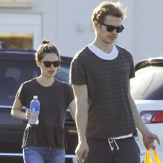 "Rachel Bilson and Hayden Christensen at Toys ""R"" Us"