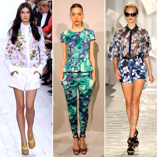 5 Spring '2012 Runway Trends to Try Now: Floral blouses,
