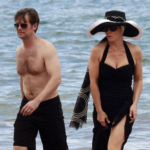 Monica Potter and Peter Krause Filming Parenthood on a Beach
