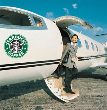 Amid Lean Times, Starbucks Buys a Jet