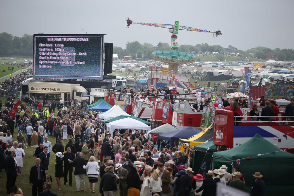 Crowds gathered at the Diamond Jubilee Derby.