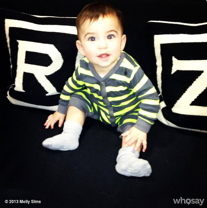 Brooks Stuber got comfortable in Rachel Zoe's studio while mama Molly Sims worked with her stylist. Source: WhoSay user mollysims