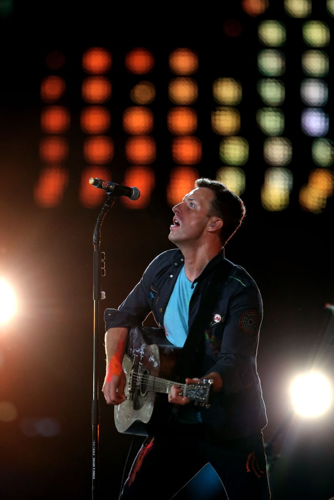 Chris Martin performed in London.