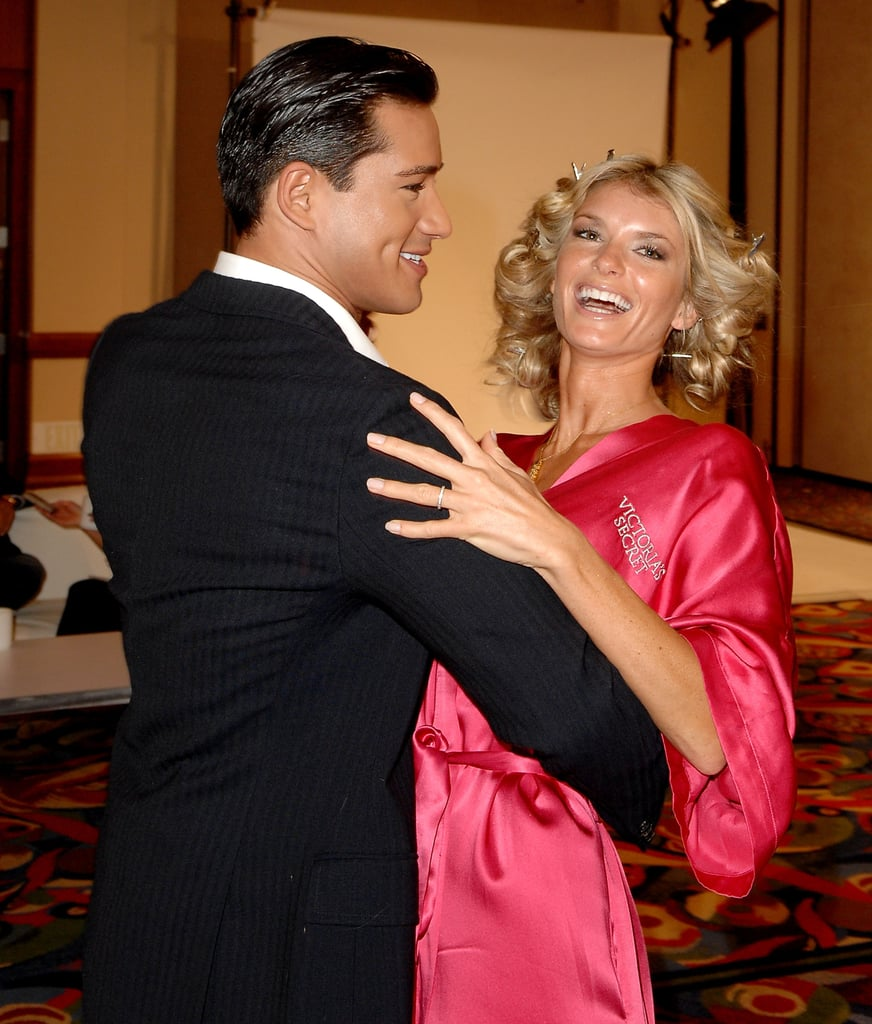 Mario Lopez and Marisa Miller shared a dance backstage in 2007.