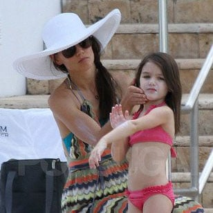 Pictures of Katie Holmes and Suri Cruise at Pool in Miami