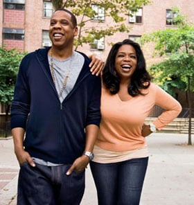 Photos of Jay-Z and Oprah