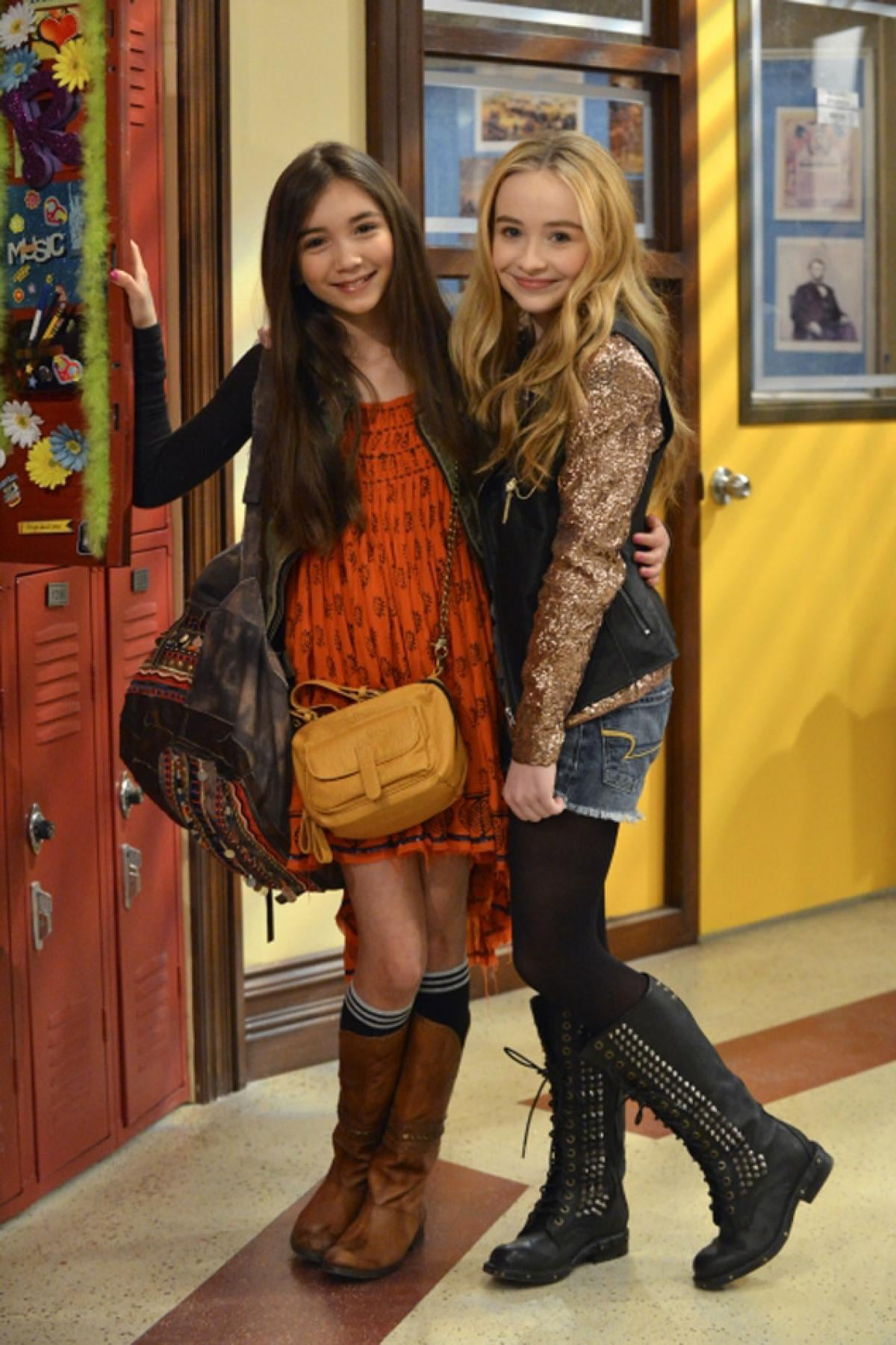 Rowan Blanchard and Sabrina Carpenter as Riley Matthews (Cory and Topanga's daughter!) and her best friend, Maya Hart.