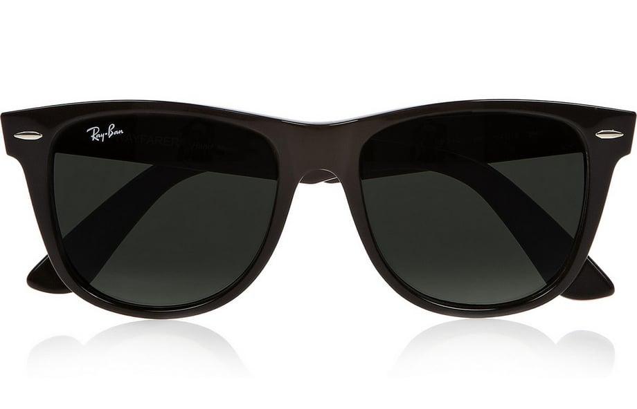 Ray-Ban black Wayfarer sunglasses ($150)